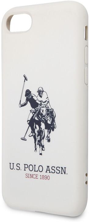 U.S. Polo silikonový kryt Big Horse pro iPhone 8/SE(2020), bílá