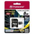 Transcend Micro SDHC 8GB Class 10 UHS-I + adaptér