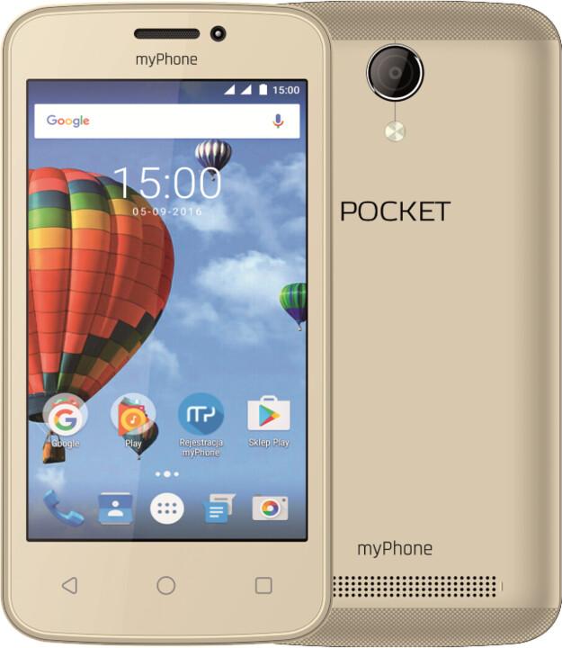 myPhone POCKET, zlatá