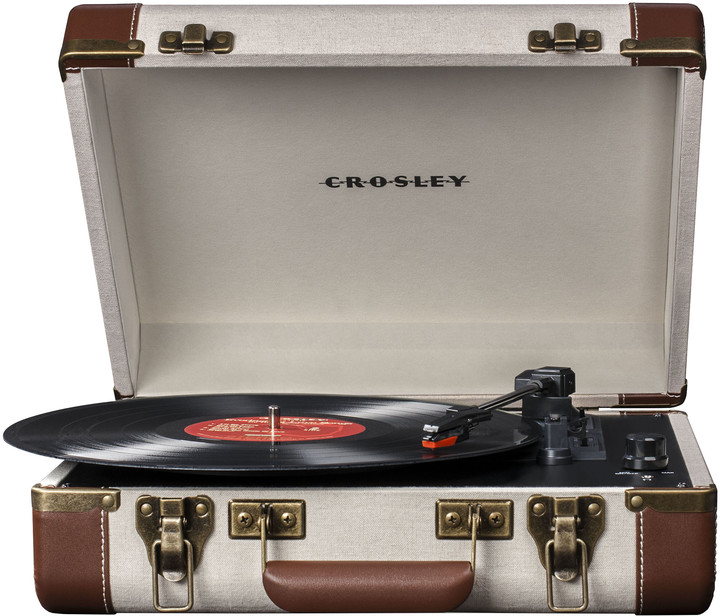 Crosley Executive, linen/brown