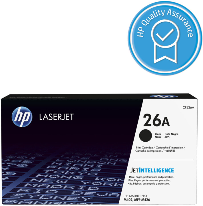HP CF226A (č. 26A), černá