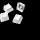 SteelSeries vyměnitelné klávesy PrismCaps, PBT, 120 kláves, bílé, US