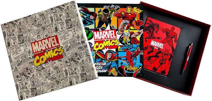 Dárkový set Marvel Comics (kalendář, diář, propiska)