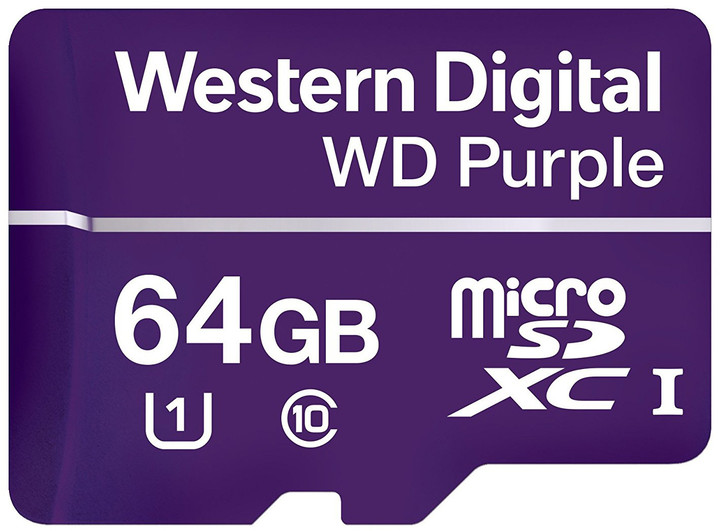 WD Micro SDXC Purple 64GB 80MB/s UHS-I