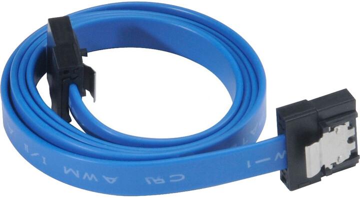 Akasa SATA 3.0, super tenký, 50cm, modrá