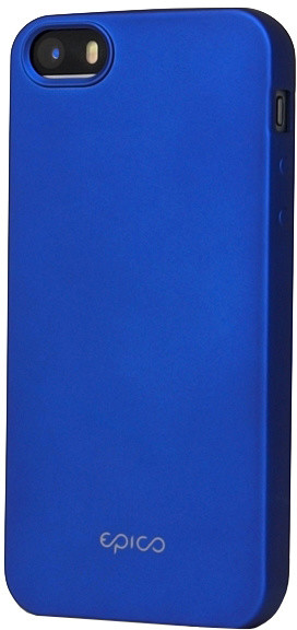 EPICO pružný plastový kryt pro iPhone 5/5S/SE EPICO GLAMY - modrý
