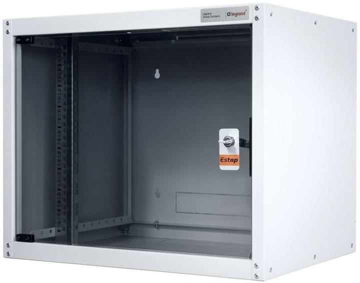 Legrand EvoLine nástěnný datový rozvaděč 9U, 600x450mm, 65kg, skleněné dveře
