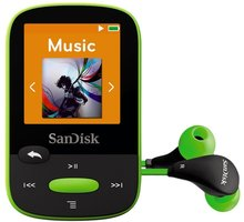 SanDisk Sansa Clip Sports 8GB, limetka - SDMX24-008G-G46L