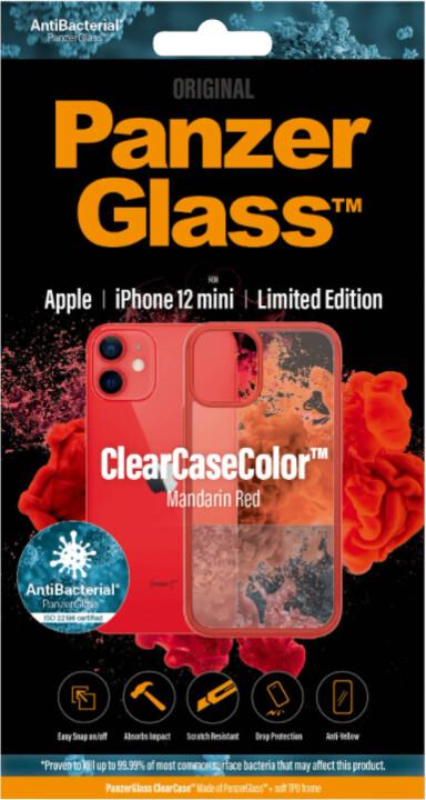 PanzerGlass ochranný kryt ClearCase pro iPhone 12 mini, antibakteriální, červená