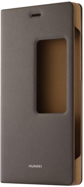 Huawei Original S-View Pouzdro Brown pro P8 (Asia Blister)