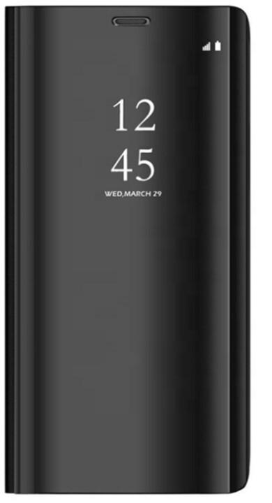 Forever flipové pouzdro smart Clear View pro Xiaomi Mi Note 10 Lite, černá