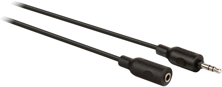 Philips prodlužovací kabel pro sluchátka 3,5mm, protiskluzová rukojeť, 1,5m