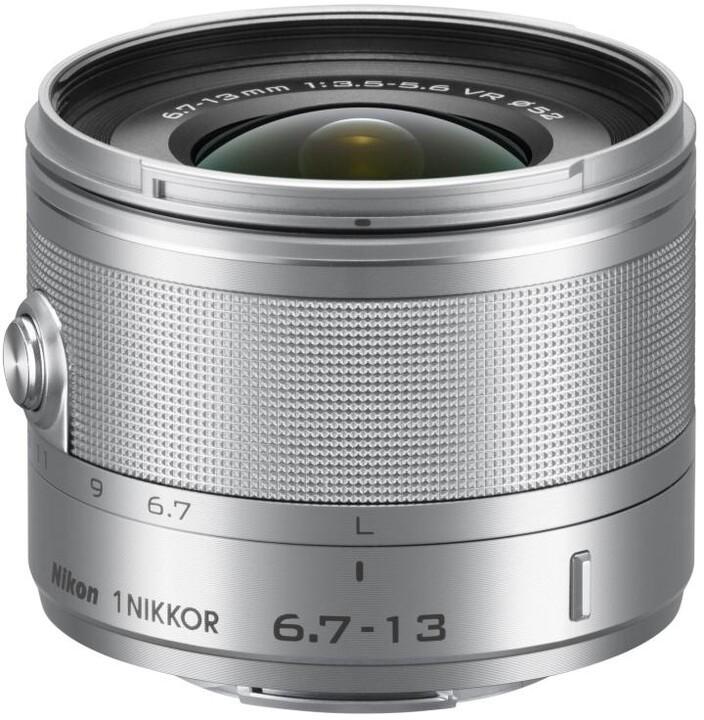 Nikon objektiv Nikkor 6,7-13 mm F3.5-5.6 VR 1, stříbrná