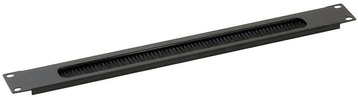 "Triton průchozí panel RAB-ZP-X03-A2, 19"", 1U, s kartáčem"