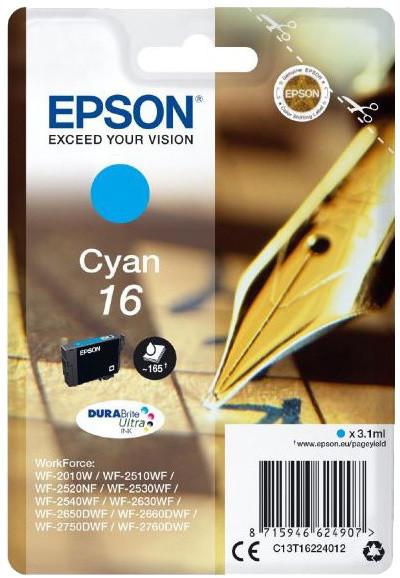 Epson C13T16224012, Durabite 16, cyan