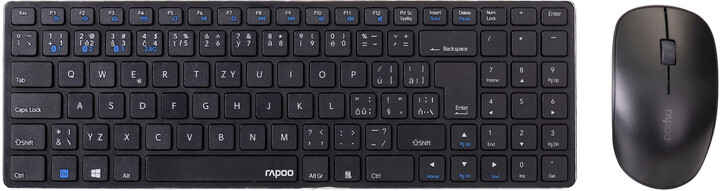 Rapoo 9300M, černá