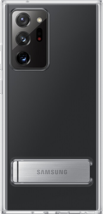 Samsung ochranný kryt Clear Cover pro Samsung Galaxy Note20 Ultra se stojánkem, transparentní