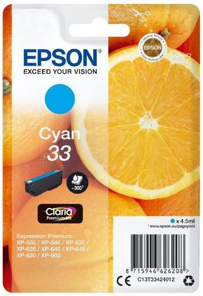 Epson C13T33424012, 33 claria cyan