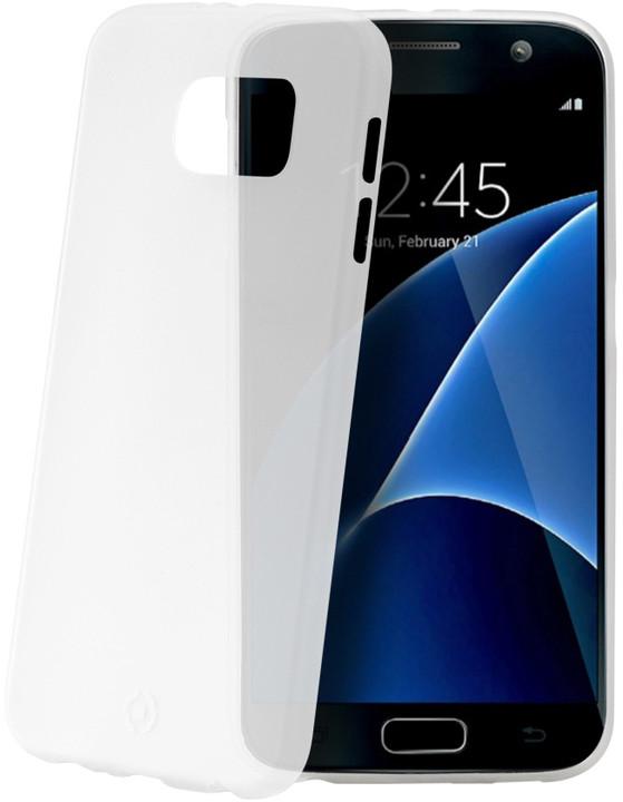 CELLY Frost pouzdro pro Samsung Galaxy S7, 0,29 mm, bílá