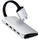 Satechi TYPE-C Dual Multimedia Adapter, stříbrná