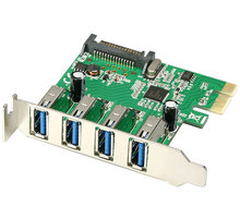 AXAGON PCI-Express adapter 4x USB3.0 Renesas + LP