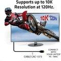 Club3D kabel HDMI 2.1, M/M, 4K@120Hz, 8K@60Hz, Ultra High Speed, 3m, černá
