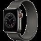 Apple Watch Series 6 Cellular, 44mm, Graphite Stainless Steel, Graphite Milanese Loop S pojištěním od Mutumutu dostanete 5 000 Kč zpět - více ZDE