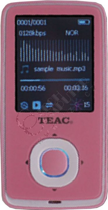 Teac MP-315 FM - 8GB, růžová MP-315-8GB-P | CZC cz