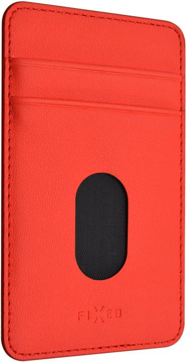 FIXED Nalepovací kapsa Caddy pro 2 kreditní karty, červená