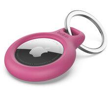 Belkin bezpečné pouzdro na Apple AirTag s kroužkem, růžová - F8W973btPNK