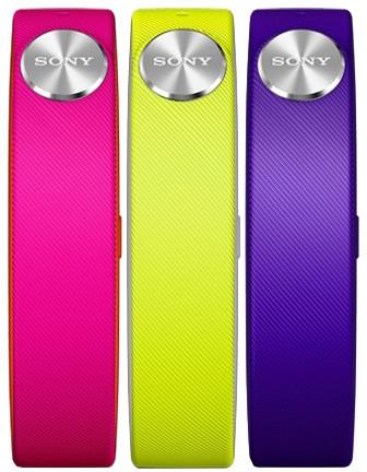 Sony řemínek SWR110 Active S pro SmartBand SWR10, 3 ks (fialová, růžová, limetková)