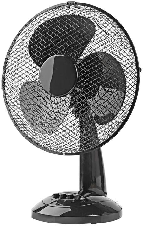 Nedis stolní ventilátor, černá
