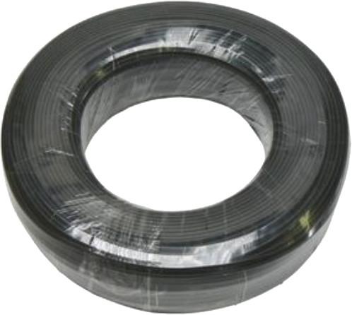 PremiumCord kabel telefonní 4 žíly 100m, černá