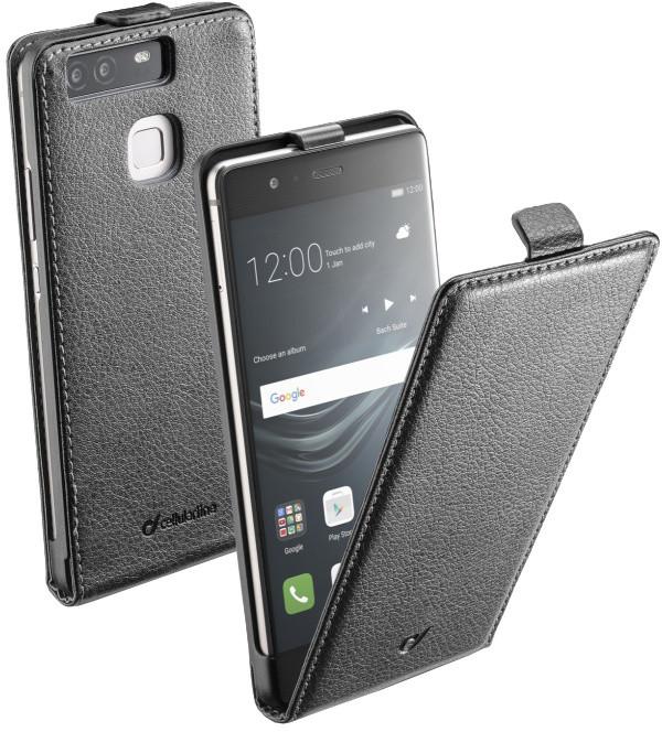CellularLine Flap Essential pouzdro pro Huawei P9, PU kůže, černé