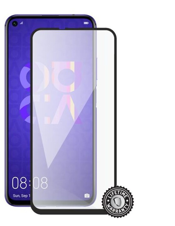 Screenshield ochrana displeje Tempered Glass pro Huawei Nova 5T, Full Cover, černá
