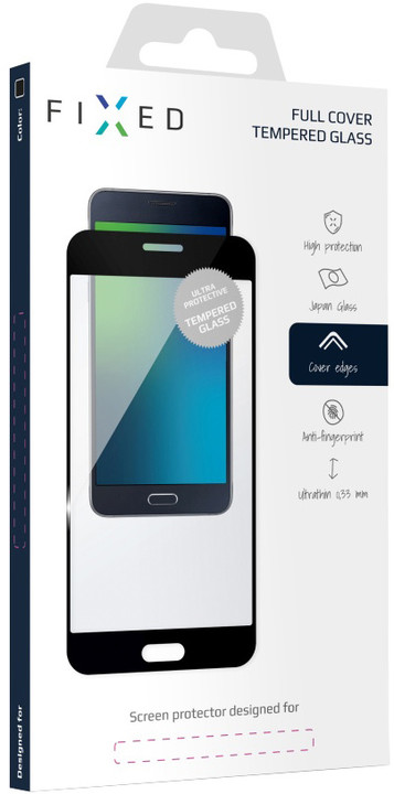 FIXED Full-cover ochranné tvrzené sklo pro Samsung Galaxy S8 Plus, černé