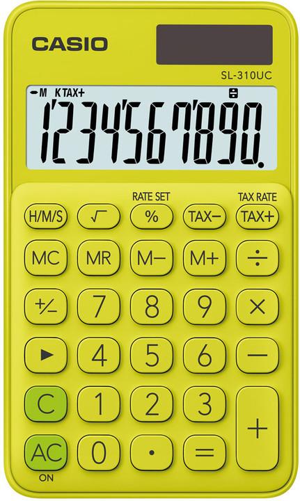 CASIO kalkulačka SL 310 UC YG, žlutá v hodnotě 209 Kč