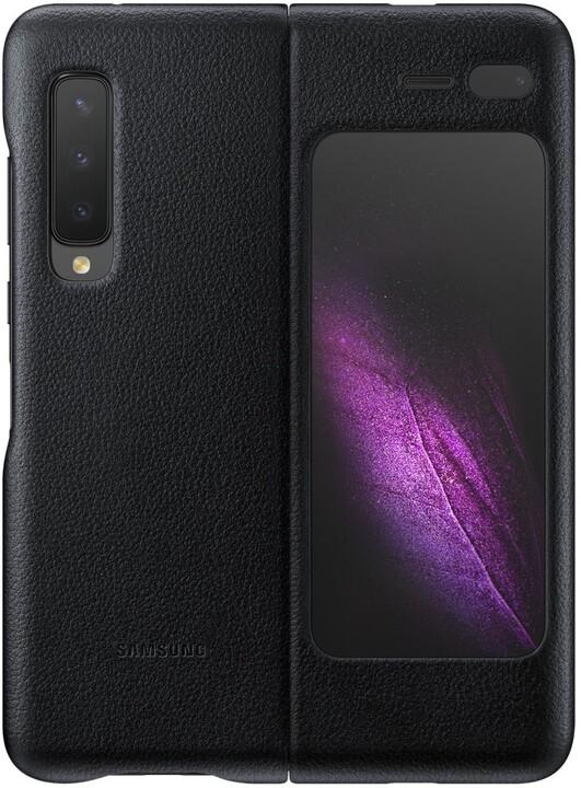 Samsung kožený zadní kryt Leather Cover pro Galaxy Fold, černá