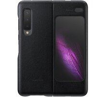 Samsung kožený zadní kryt Leather Cover pro Galaxy Fold, černá - EF-VF900LBEGWW