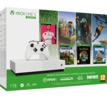 XBOX ONE S All-Digital, 1TB, bílá + FIFA 20, Minecraft, Fortnite, Sea of Thieves  + 5x 100 Kč sleva na hry a příslušenství Xbox