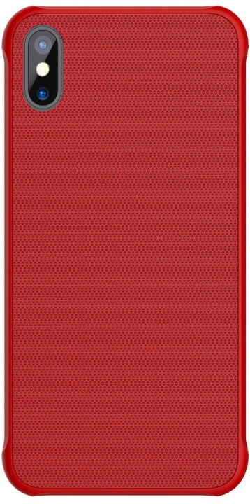 Nillkin Tempered Magnet zadní kryt pro iPhone X, Red