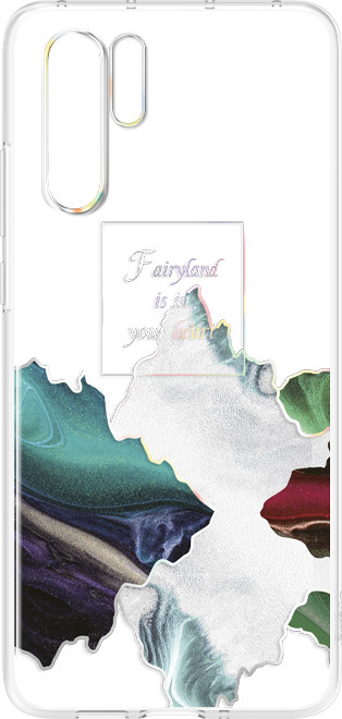 Huawei Original TPU Protective pouzdro Glacial Fairyland pro Huawei P30 Pro, čirý