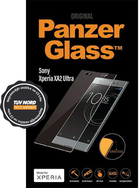 PanzerGlass Edge-to-Edge pro Sony Xperia XA2 Ultra, čiré