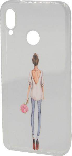 EPICO Pružný plastový kryt pro Huawei P20 Lite LADY WITH FLOWER