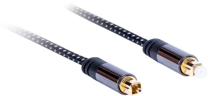 AQ Premium PA50007 optický Toslink kabel, délka 0,75 m