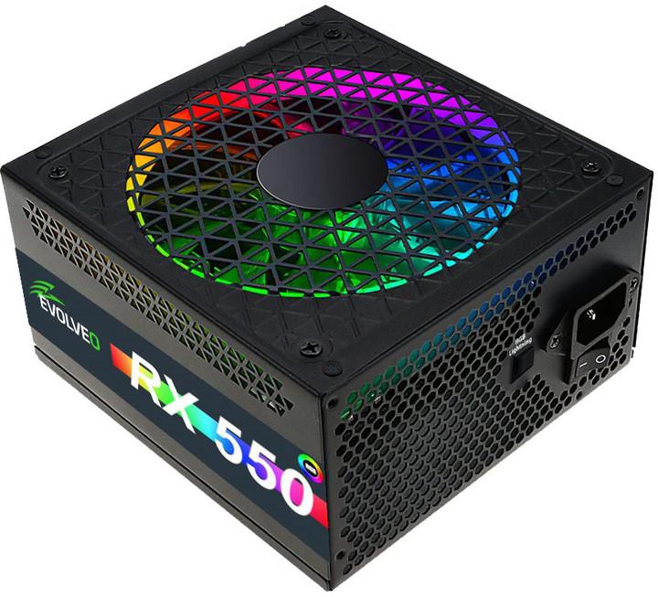 Evolveo RX 550 - 550W, RGB, bulk