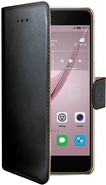 CELLY Wally Pouzdro typu kniha pro Huawei Nova, PU kůže, černé
