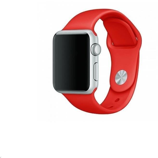 COTEetCI silikonový řemínek pro Apple Watch, 42/44mm, červená