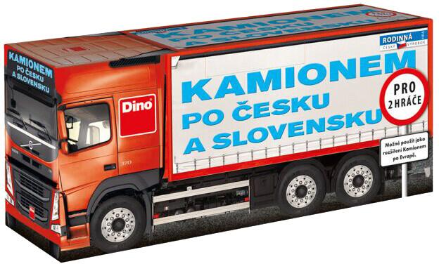 Desková hra Dino Kamionem po Česku a Slovensku