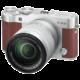 Fujifilm X-A3 + XC 16-50mm, stříbrná/hnědá  + 300 Kč na Mall.cz